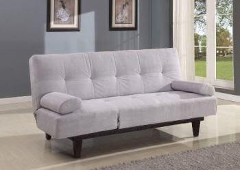 Acme Plush Silver Sofa Bed