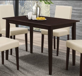 Coaster Clayton Cappuccino Finish Rectangular Dining Table