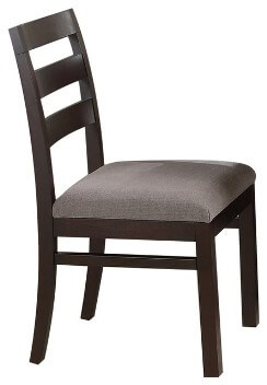 Coaster Dark Cappuccino Finish Side Chairs with Upholstered Seats (set of 2)