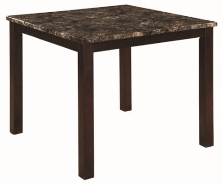 Coaster Dulce Counter-Height Dining Table with Faux Marble Top