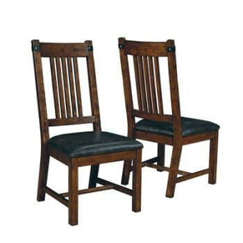 Coaster Mission Style Side Chairs with Faux Leather Seats (set of 2)