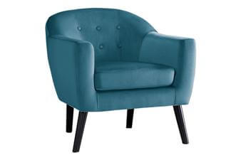 Homelegance Plush Teal Accent Chair