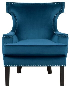 Homelegance Lapis Blue Accent Chair with Nailhead Trim