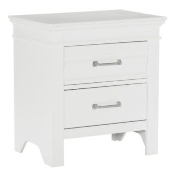 Homelegance Blaine Farm White 2-Drawer Nightstand