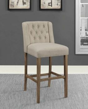 Coaster 30-Inch Beige Upholstered Barstools with Tufted Accents (set of 2)