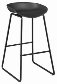Coaster 30-Inch Black Backless Barstool with Metal Base