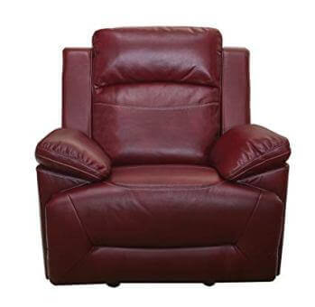 New Classic Cortez Red Faux Leather Gliding Recliner