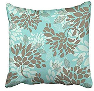 Teal, Taupe & Ivory Throw Pillows (set of 2)