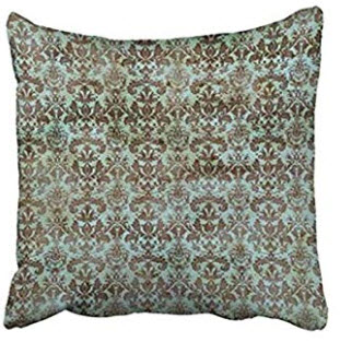 Teal & Taupe Fleur De Lis Throw Pillows (set of 2)