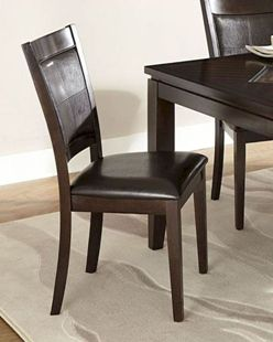 Homelegance Vincent Cappuccino & Faux Leather Side Chairs (set of 4)