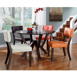 Powell Prism Multicolored Dining Chairs Set of 4