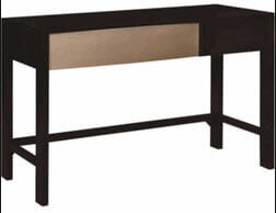 Coaster Black Desk with Silver Accent