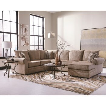 Coaster Fairhaven 3-Piece Sectional with Right-Hand Chaise