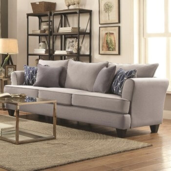 Coaster Halstatt Flax Sofa with Contrast Piping