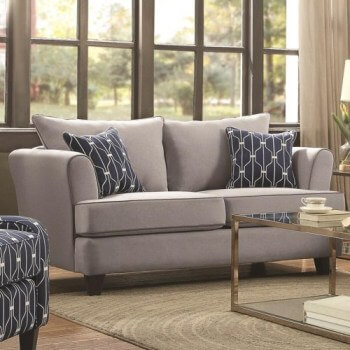 Coaster Halstatt Flax Loveseat with Contrast Piping