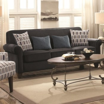 Coaster Gideon Graphite Sofa