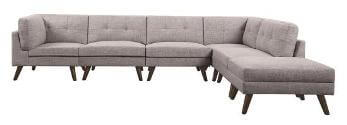 Coaster Churchill Grey 6-Piece Sectional