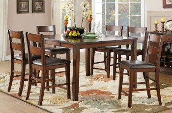 Homelegance Mantello Espresso Counter-Height Dining Set with 4 Barstools & 1 Leaf