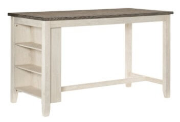 Homelegance Timbre Whitewash & Grey Counter-Height Dining Table with Storage