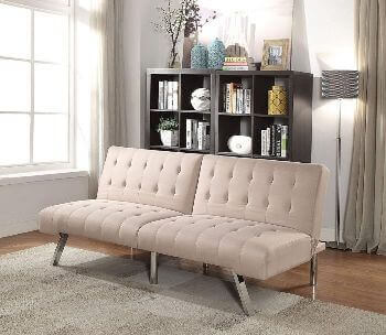 Acme Beige Tufted Sofa Bed