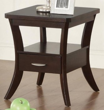 Coaster Dark Cappuccino Finish End Table with 1 Drawer
