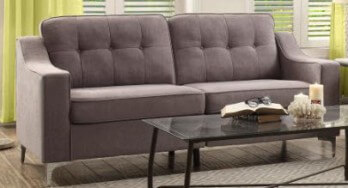 Homelegance Murana Silver Sofa with Chrome Legs