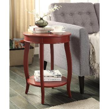 Acme Red Round Side Table