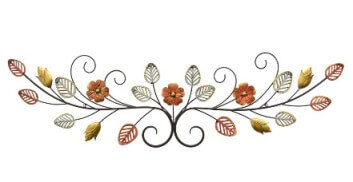 Three Hands Multicolored Floral Metal Wall Art