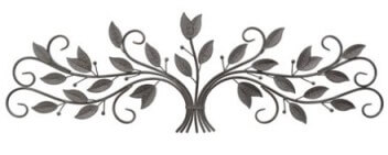 Three Hands Metal Large Scrolling Foliage Wall Art