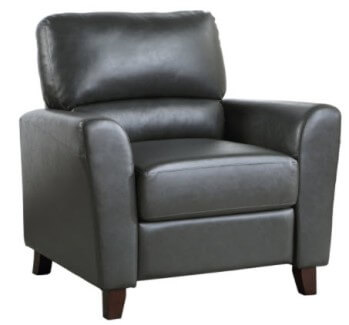 Homelegance Dublin Charcoal Faux Leather Pushback Recliner