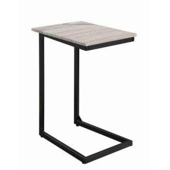 Coaster Hardwood & Brushed Nickel Snack Table