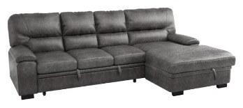 Homelegance Michigan Sectional with Sleeper, Storage & Right-Hand Chaise