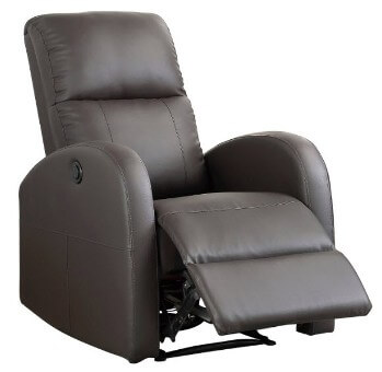 Homelegance Wiley Brown Faux Leather Power Recliner