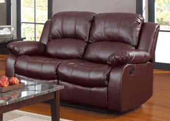 Homelegance Granley Dark Brown Faux Leather Reclining Loveseat