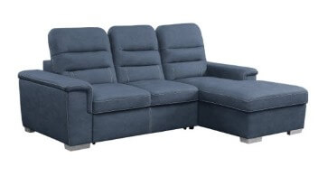 Homelegance Alfio Blue Sectional with Sleeper & Storage