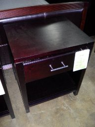 Nevis Espresso Finish 1-Drawer Nightstand