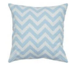 Rizzy White & Aqua Blue Chevron Throw Pillows (set of 2)