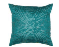 Rizzy Teal Throw Pillows with Round Circle Accents (set of 2)