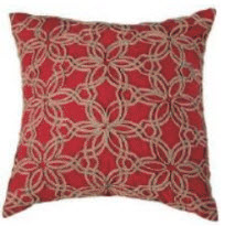 Rizzy Coral Throw Pillows with Ivory Stitched Accents (set of 2)