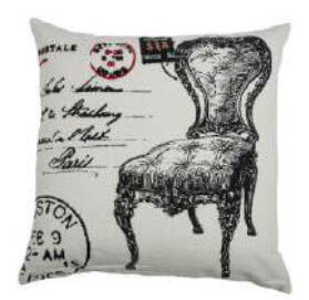Rizzy Antique Postage Script Throw Pillows (set of 2)