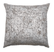 Rizzy Silver Throw Pillows with Square Accents (set of 2)