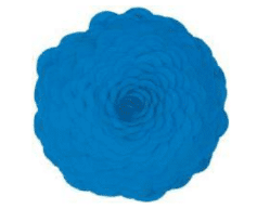 Rizzy Turquoise Round Flower Pillow
