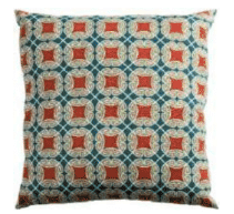 Rizzy Blue & Orange Patterned Throw Pillows (set of 2)