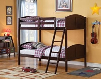 Acme Cappuccino Finish Twin Over Twin Bunk Bed
