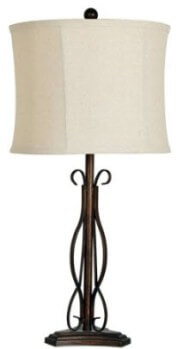 Crestview Scrolling Iron Table Lamp