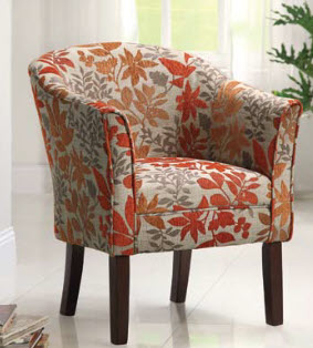 Coaster Autumn Leaves Upholstered Accent Chair