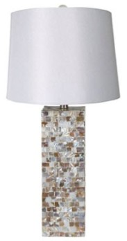 Crestview Marble Tiles Table Lamp