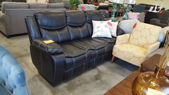 Homelegance Bastrop Black Leather Gel Match Reclining Sofa