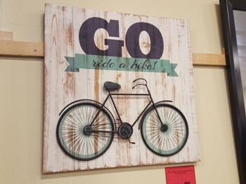 CBK Go Ride A Bike Hardwood & Metal Wall Sign