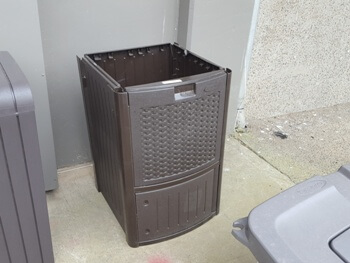 Dark Brown PVC Resin Wicker Deck Cooler (missing pieces)